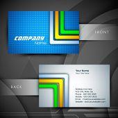 Professional and designer business card set or visiting card set. EPS 10. poster
