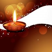 beautiful colorful stylish vector diwali background poster