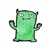 cartoon mischievous little monster poster