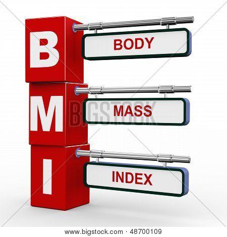 3D Modern Signboard Of Bmi