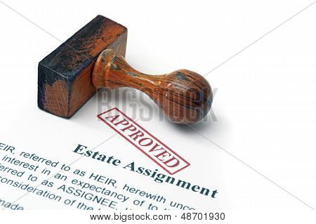 Estate Assignment - Approved