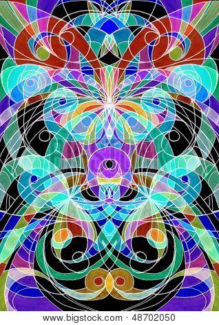 Digital Artworks Ethnic Style