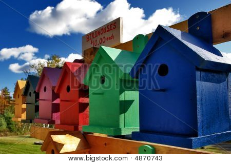 Colorful Birdhouses