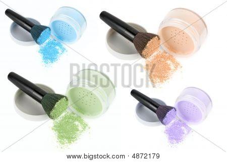Gesicht-Pulver-Farbpalette