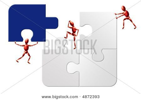Impossible To Solve Teamwork Jigsaw Puzzle