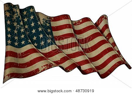 Us Flag Wwi-wwii (48 Stars) Historic Flag