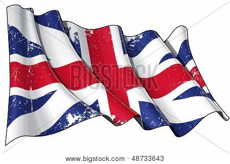 Union Jack 1606�1801 (the King's Colours) Scratched