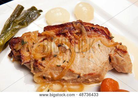 Pork Chop Dish Vegetables