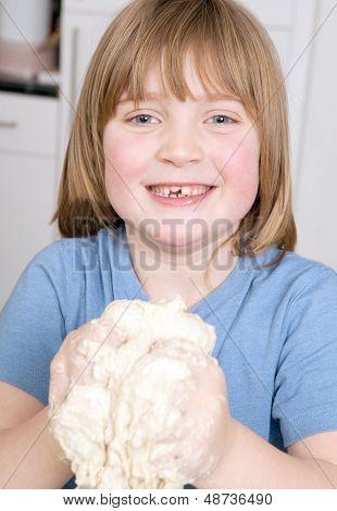 Making Bread Kneading Dough