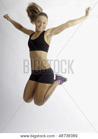 Young Woman Doing Her Workout