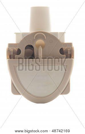 Closed Up Powder Asthma Inhaler