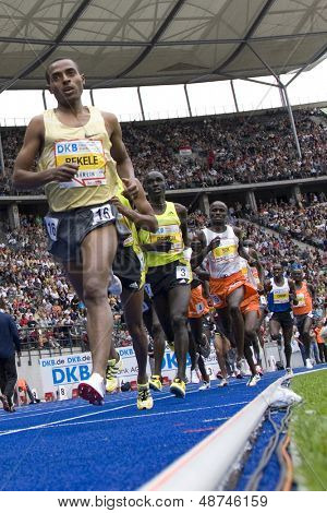 June 14 2009; Berlin Germany. BEKELE, Kenenisa (ETH) competing in the 5000mtrs at the DKB ISTAF 68 International Stadionfest Golden League Athletics competition.