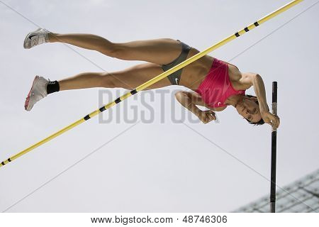 June 14 2009; Berlin Germany. Yuliya GOLUBCHIKOVA (RUS) competing in the pole vault at the DKB ISTAF 68 International Stadionfest Golden League Athletics competition.