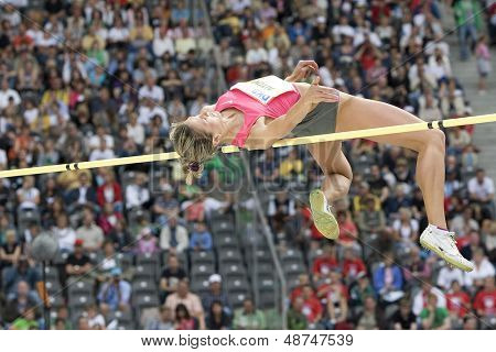 June 14 2009; Berlin Germany. Marina AITOVA (KAZ) competing in the  high jump at the DKB ISTAF 68 International Stadionfest Golden League Athletics competition.