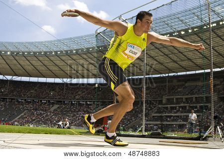 June 14 2009; Berlin Germany. Erik CADEE (NED) competing in the  at the DKB ISTAF 68 International Stadionfest Golden League Athletics competition.