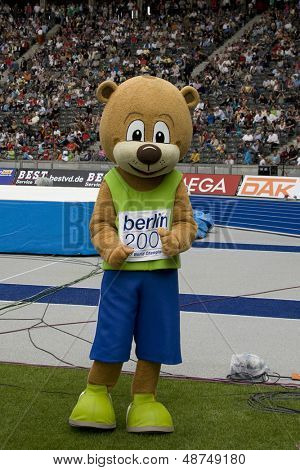 June 14 2009; Berlin Germany.  mascot for the 2009 world athletics championships at the DKB ISTAF 68 International Stadionfest Golden League Athletics competition.