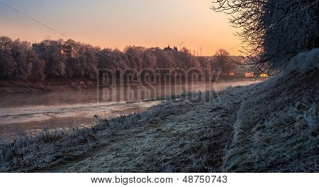 Hoarfrost On A Winter Morning