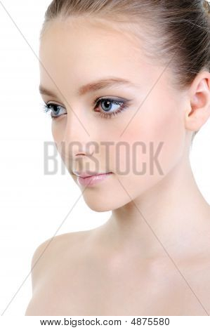 Clean Skin Of Beautiful Female Face