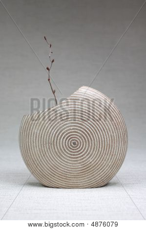 Wooden Vase With A Twing