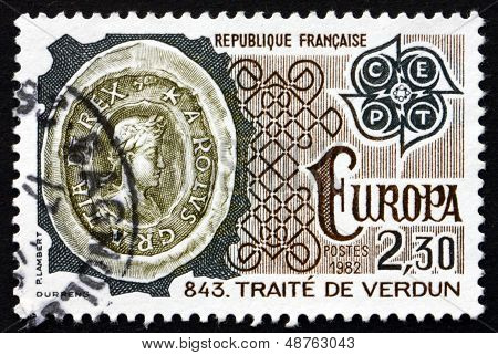 Postage Stamp France 1982 Treaty Of Verdun, 843