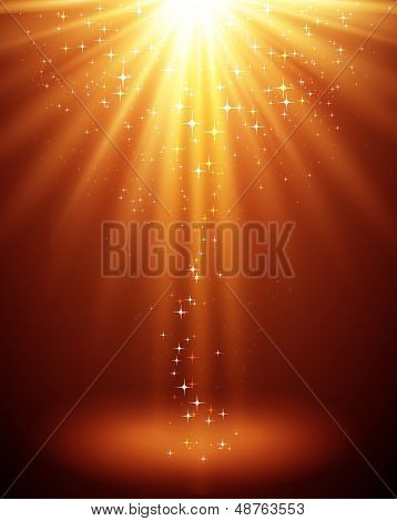 Vector illustration Abstract magic light backgroud with star