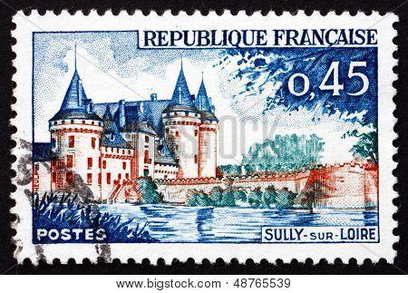 Postage Stamp France 1961 Sully-sur-loire Chateau, Loiret