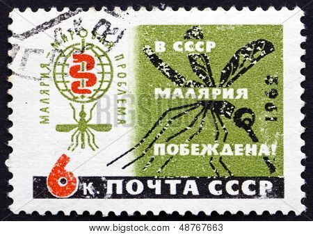 Postage Stamp Russia 1962 Malaria Eradication Emblem And Mosquito