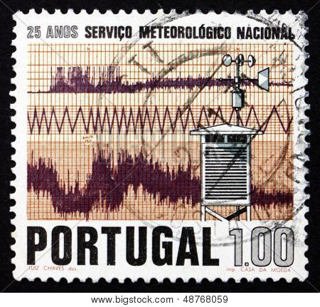 Postage Stamp Portugal 1971 Weather Recording Station