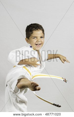 Boy Karate Kick