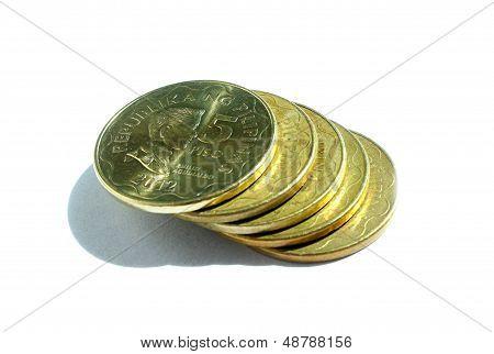 Five Peso Coins
