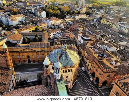 Cremona, View From Cathedral Tower, Lombardy, Italy