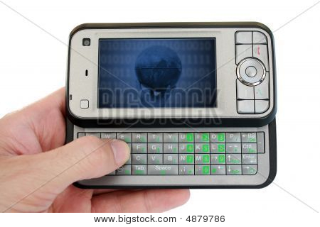 Mobile Phone With Success Metaphor On Screen