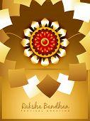beautiful golden rakhi for hindu rakshabandhan festival poster