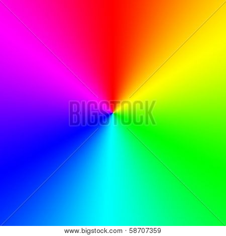 Rainbow spectral circle gradient