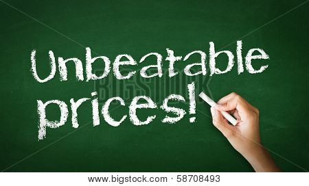 Unbeatable Prices Chalk Illustration
