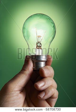 Green Bulb With Globe