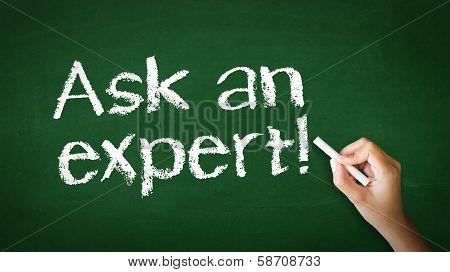 Ask An Expert Chalk Illustration