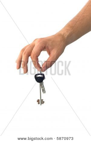 Hand Holding Keys From A House
