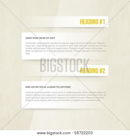 Subtle Presentation Design | Heading and Paragraph | Blog Template | EPS10 Graphic