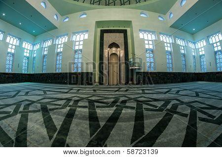 Mosque Abdullah bin Abdulaziz Al Saud Interior - Sarajevo, Bosnia and Herzegovina poster