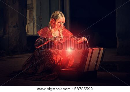 Witch Conjuring A Spell