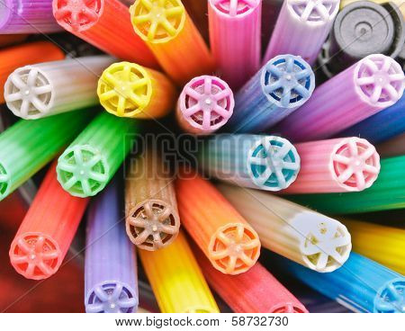 Colorful Pen Lids