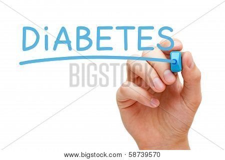 Diabetes Blue Marker