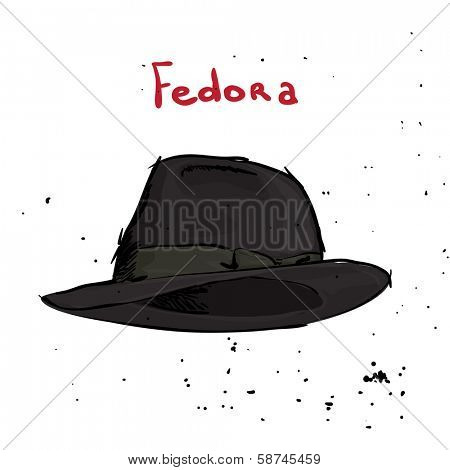 Classic hat on white background