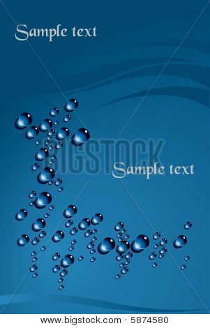Blue Background With Bubbles.eps