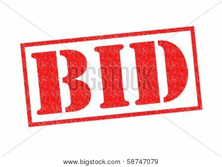 Bid Rubber Stamp