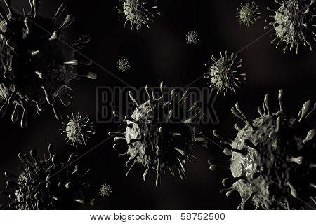 illustration of h1n1 virus in high details