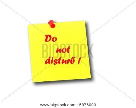 Note Do Not Disturb