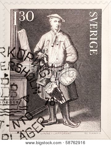 Carl Linnaeus Stamp