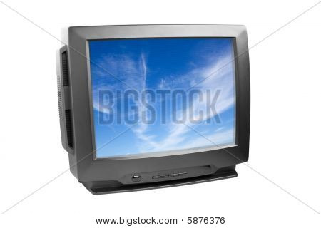 Black Tv Set Isolated